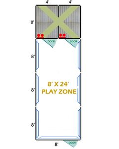 8' X 24' Complete Playzone W/Multiple 4' X 8' PRO Dog Kennels X2