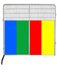 8' Kennel PRO Partition/Room Divider Panel W/ Color