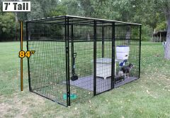 8' X 12' Ultimate 7' Tall Wire Kennel (Powder-Coated)