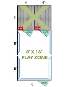 8' X 16' Complete Playzone W/Multiple 4' X 8' PRO Dog Kennels X2