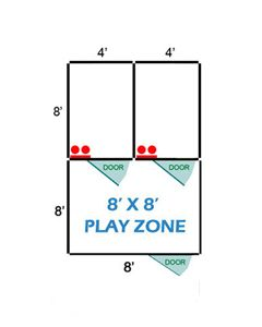 8' X 8' Basic Playzone W/Multiple 4' X 8' PRO Dog Kennels X2