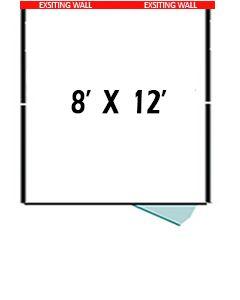 8' X 12' Three Sided Basic PRO Dog Kennel