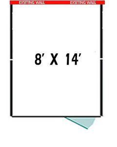 8' X 14' Three Sided Basic PRO Dog Kennel