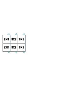8' X 8' Multiple Standard Back To Back Dog Kennels x3