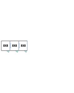 8' X 8' Multiple 7' Tall Full Stall Dog Kennels x3