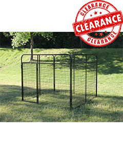 8' x 8' Standard Powder-Coated Kennel (CLEARANCE)