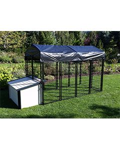 4' X 8' Value Kennel & Cabin Dog House Combo (Ultimate)