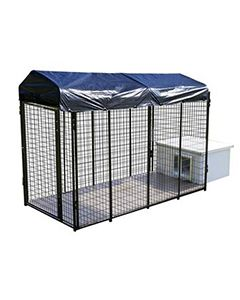 4' X 8' Value Kennel & Vinyl Dog House Combo (Complete)