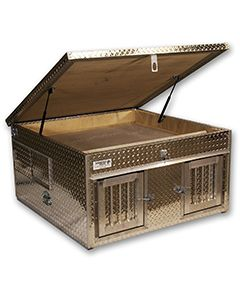 Top Storage Style Diamond Plate Dog Box