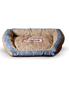 Bolster Plush Dog Bed