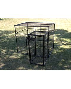 6' X 8' Fully Enclosed Wire Cage