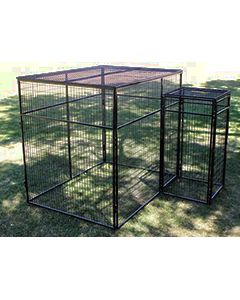 8' X 8' Fully Enclosed Wire Cage