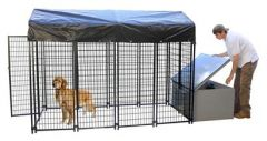 4' X 8' Value Kennel & Cube Dog House Combo (Basic)