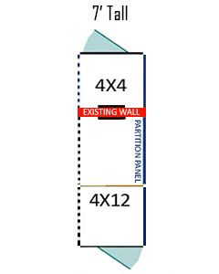 4' X 4' Inside 4' X 12' Outside Multiple 7' Tall Dog Kennels ADDITIONAL STALLS