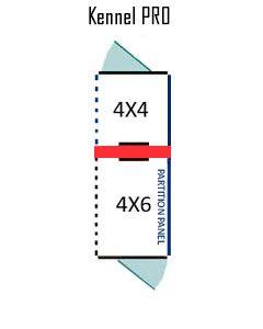 4' X 4' Inside 4' X 6' Outside Multiple PRO Dog Kennels ADDITIONAL STALLS