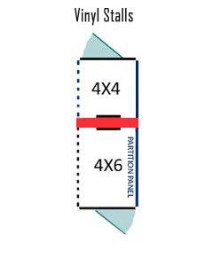 4' X 4' Inside 4' X 6' Outside Multiple Vinyl Dog Kennels ADDITIONAL STALLS