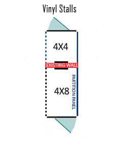 4' X 4' Inside 4' X 8' Outside Multiple Vinyl Dog Kennels ADDITIONAL STALLS