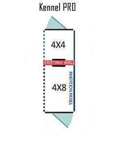 4' X 4' Inside 4' X 8' Outside Multiple PRO Dog Kennels ADDITIONAL STALLS