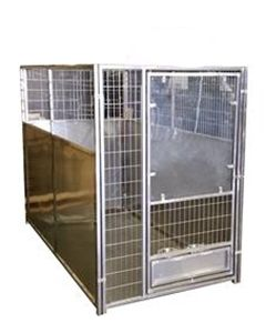 Single Stainless Steel Dog Kennel