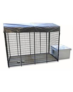 4' X 8' Value Kennel & Vinyl Dog House Combo (Ultimate)