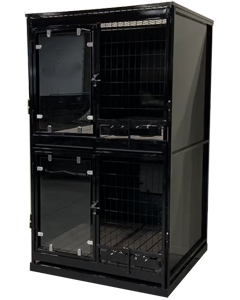 Double Stacked Powdercoated Kennels