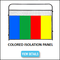 Kennel Colored Isolation Panel