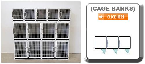 Multiple Cage bank Dog Kennels