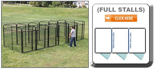Multiple Full Stall Dog Kennels