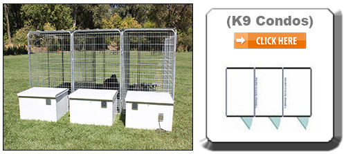 Multiple K9 Condo Dog Houses