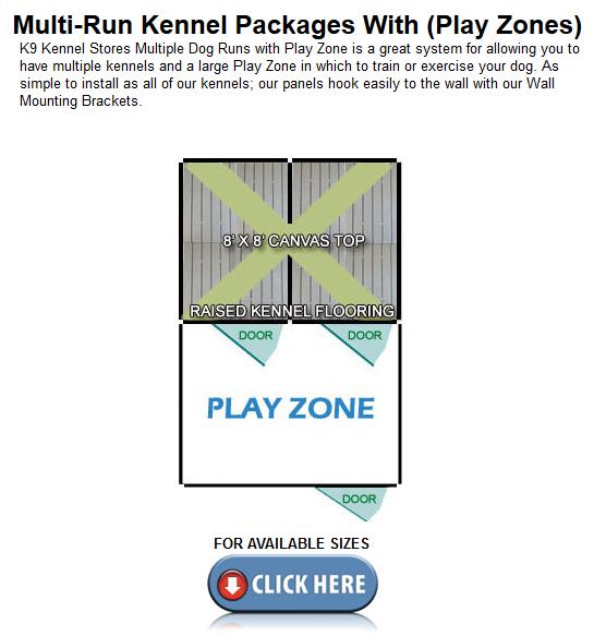 Multiple Playzone Dog Kennels