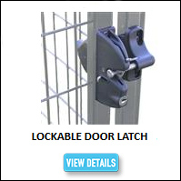 Lockable Kennel Latch
