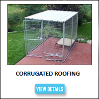 Corrugated Dog Kennel Roofing