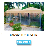 Kennel Canvas Top Covers